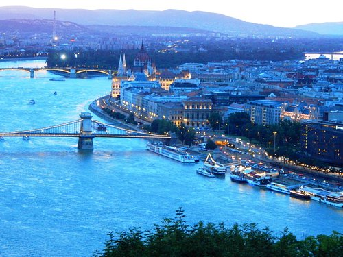 View of Budapest, Parliament Bldgs., and downtown