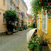 Amazingly beautiful street! An absolute must see if you are here sometime from may till october!