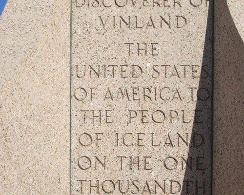 Inscription on statue