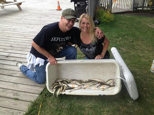 Great Day with Captain Hook's!!!!  69 perch in 4 hours!!!!!