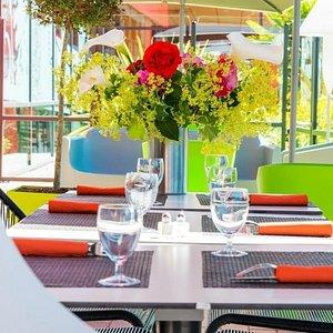 La terrasse du Restaurant La Table à Vire