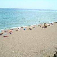 Playa nudista de La Musclera en Arenys de Mar