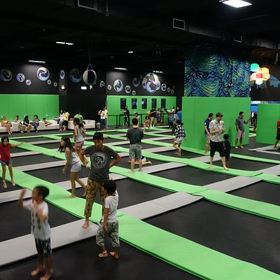 Ryze Trampoline Park from the inside