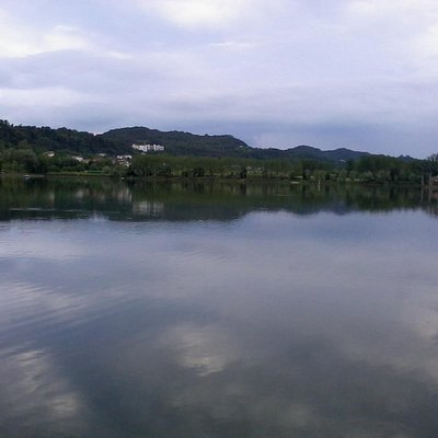 Lago di Revine vista da S. Maria