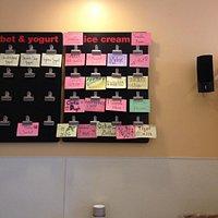 Belmont Ranc's flavor board