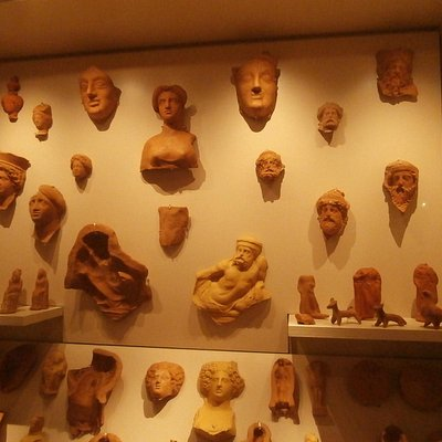 Clay figures used a grave goods, along with their hollow casts.