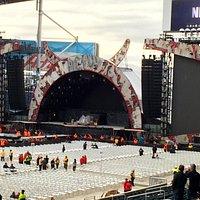 AC/DC stage set up, Sept 17, 2015