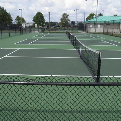 Tennis Courts at Airport Road Park in Port Orange