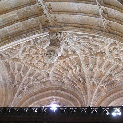 Deatil of fan vaulting, All Saints Church, Evesham