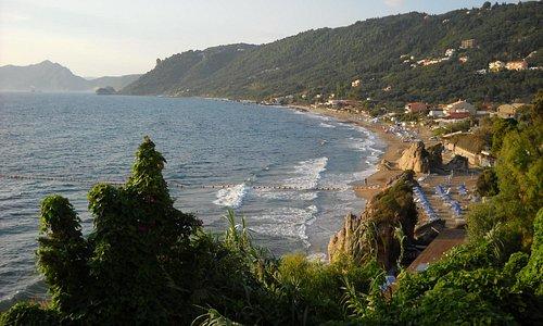 View to the beach at Agios Gordios.