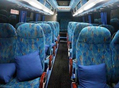 Interior of west Coast Shuttle Coach