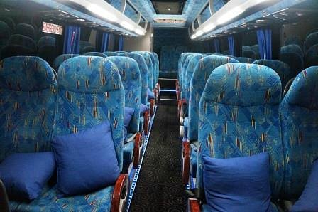 Interior of west Coast Shuttle Coach