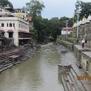 River inside the temple