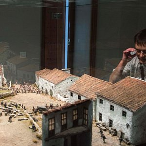 One of the exhibition rooms where they show mockups of