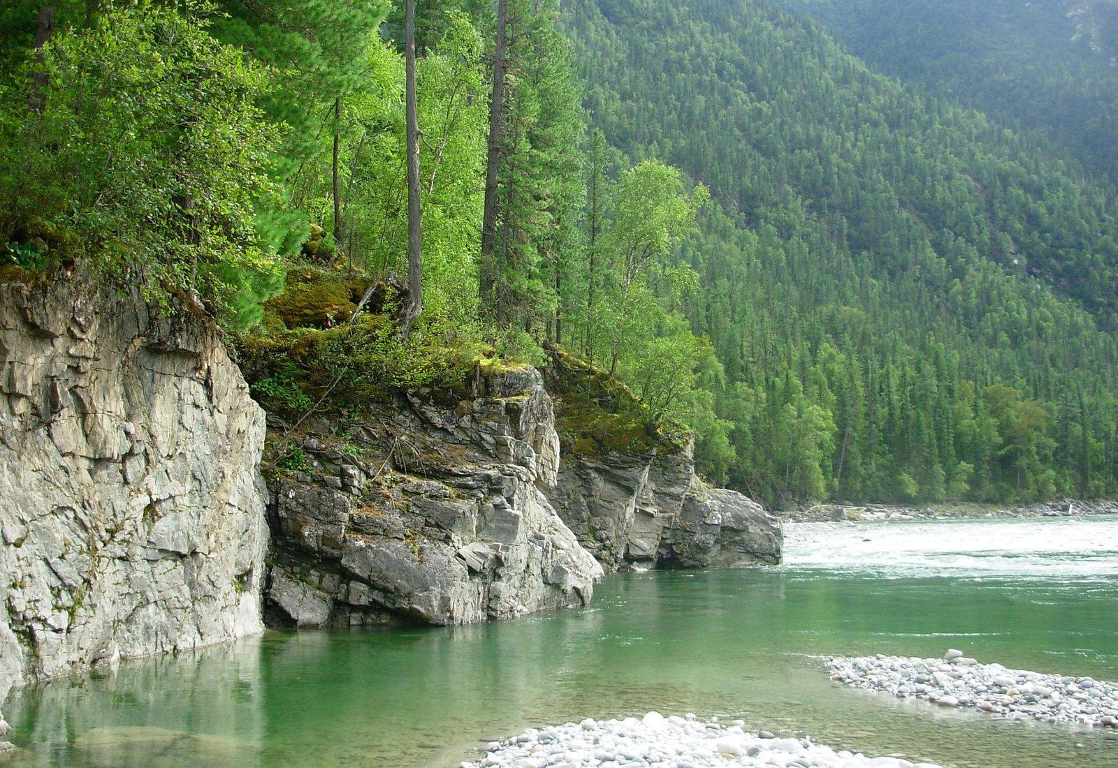 река по пути