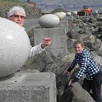 Eggs - statues...