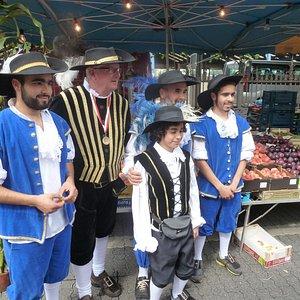 Rubensmarkt in Antwerpen op 15 augustus