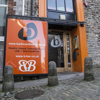 Front entrance of Barbican Theatre & The B-Bar - Photography by Gem Ward