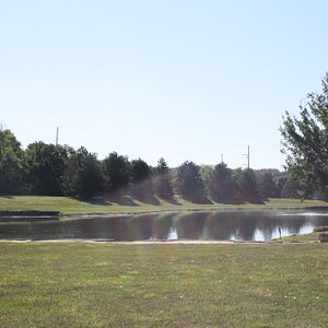 Jerry Dishman Lake is a prominent spot within Anneberg Park, and fishing is permitted.