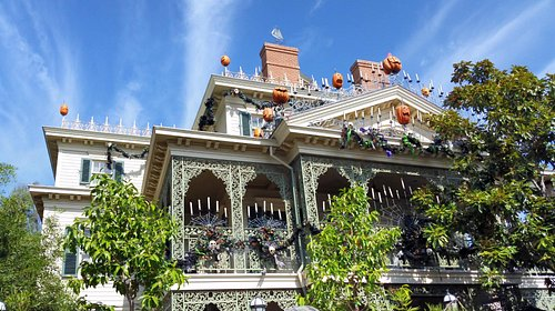 Haunted Mansion - decorated for Halloween