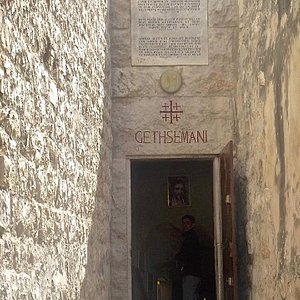 Entrance to Grotto of Gethsemane ( Grotto of Betrayal )