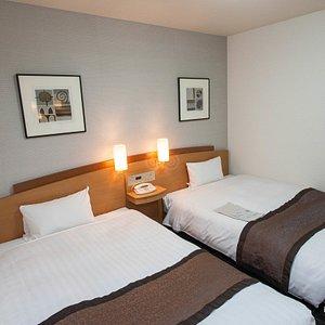 The Twin Room at the Hotel Hokke Club Hiroshima