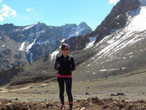 Vista por el camino de regreso por Chile