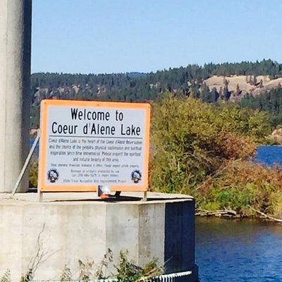 Entering Coeur d'Alene Lake