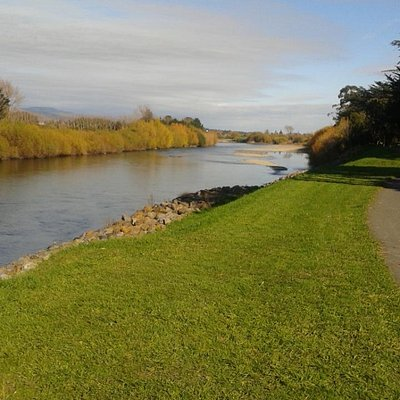 A view of the Manawatu river from the cycleway