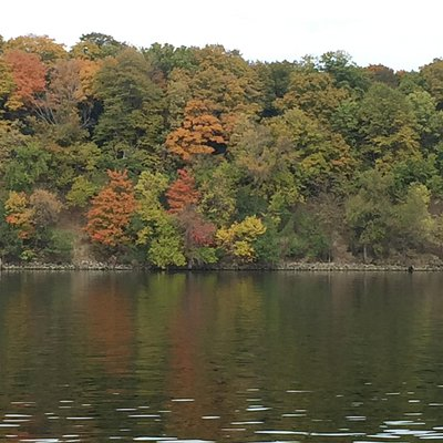 Fall colors on Lake Minnetonka taken during the Vruise.