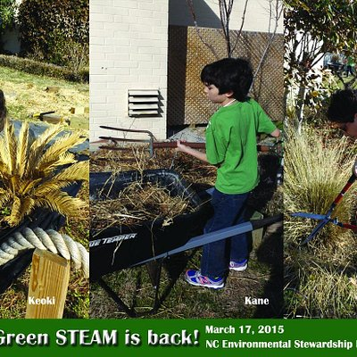 The Green STEAM team gets back to work