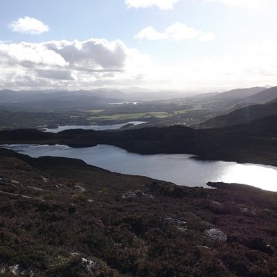 towards Kingussie, from the summit cairn