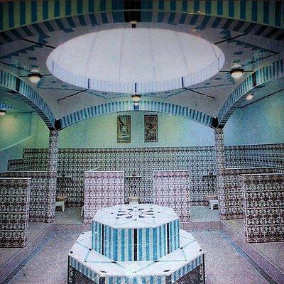L'intérieur du hammam