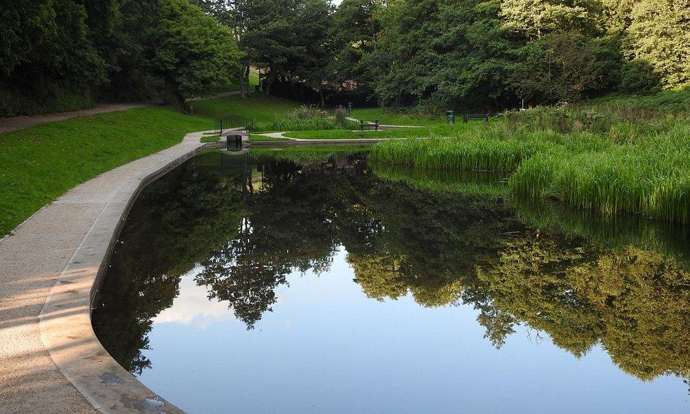 pond by ski slope