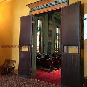 Entry door to the sanctuary