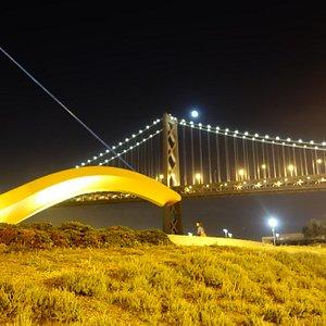 Bay Bridge w/ blood moon