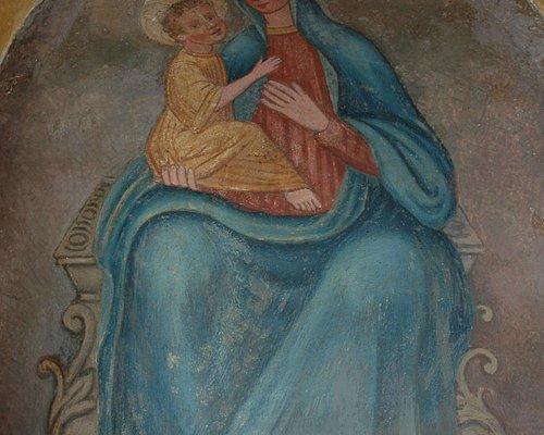 Affresco posto dietro l'Altare Maggiore