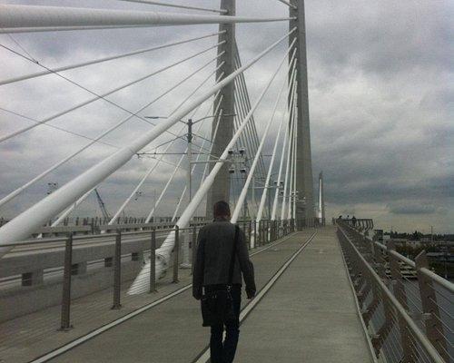 Crossing the bridge ...