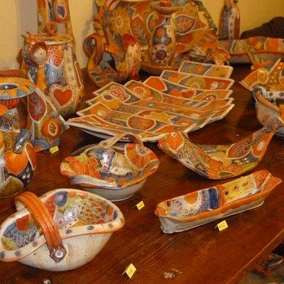 Handmade & handpainted pottery