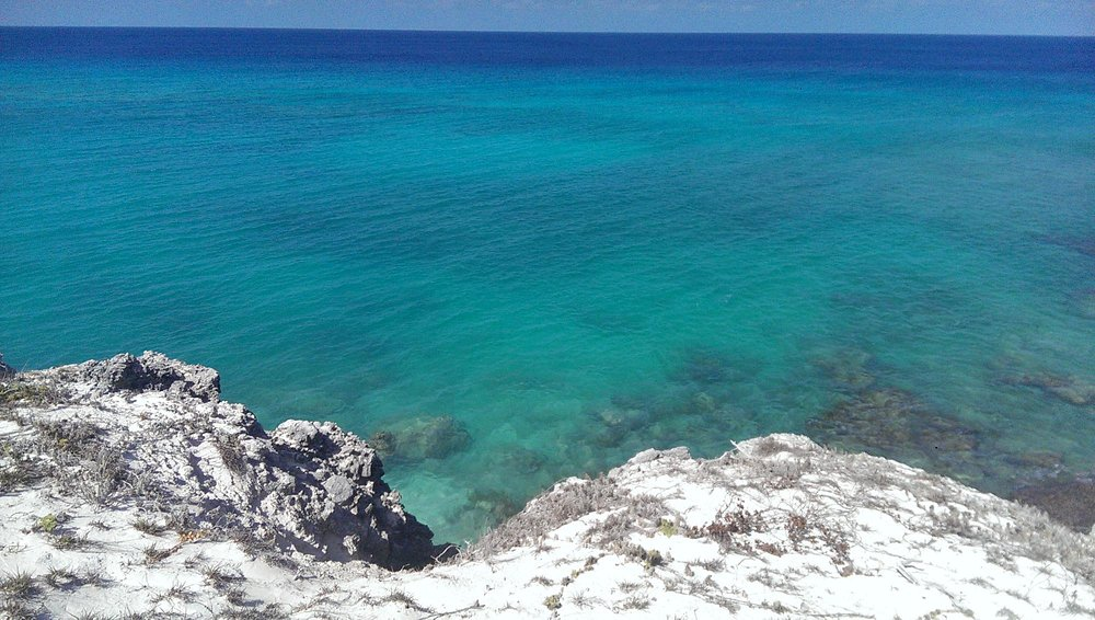 views from the lighthouse/bluff point on Salt Cay