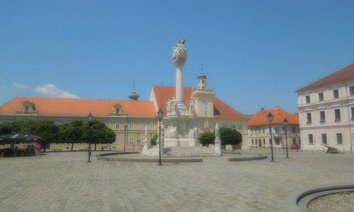 Trinity Column in Old Town Osijek
