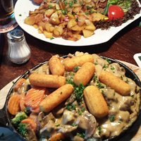 Large portions of authentic German cuisine