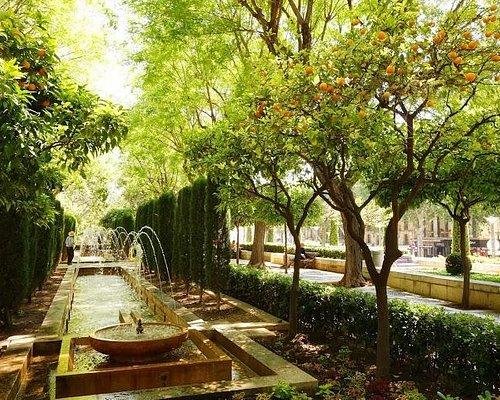 аллея с фонтанами
