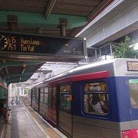 軽鐵藍地駅の様子