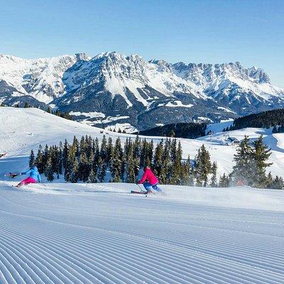 perfect slopes at SkiWelt