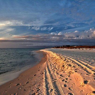 Sunset on the beach from St Joseph Peninsula State Park