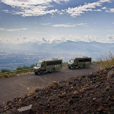 on the top of Vesuvio