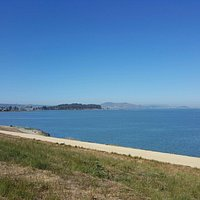 Beautiful trails. Fun to watch planes coming in to SFO also!