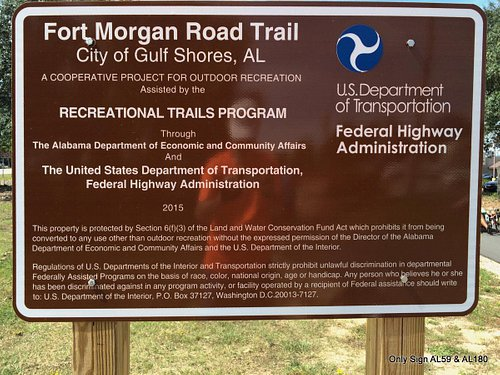 Only sign to tell you about the trail. NW corner AL 59 & AL 180