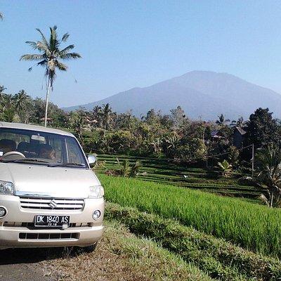 the beautiful view of Batukaru mountain